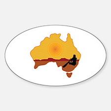 Australia Aboriginal Sticker (Oval)