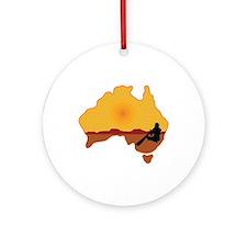 Australia Aboriginal Ornament (Round)