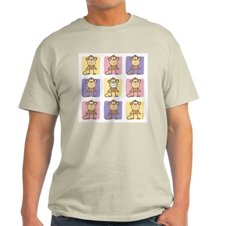 9 Monkeys Pastel Ash Grey T-Shirt