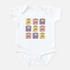 9 Monkeys Pastel Infant Bodysuit