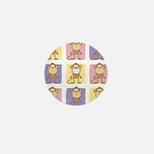 9 Monkeys Pastel Mini Button