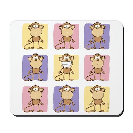 9 Monkeys Pastel Mousepad