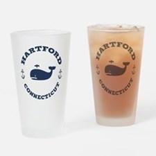 Hartford Whale Excursions Drinking Glass