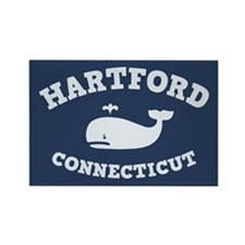 Hartford Whale Excursions Rectangle Magnet