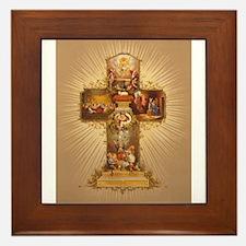 Easter Cross Framed Tile