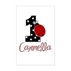 1st Birthday Ladybug - CARMELLA Posters