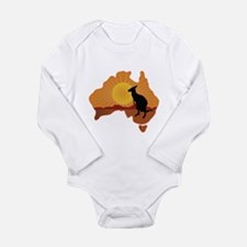 Australia Kangaroo Long Sleeve Infant Bodysuit