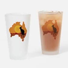 Australia Kangaroo Drinking Glass