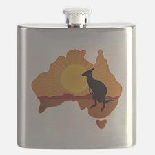 Australia Kangaroo Flask