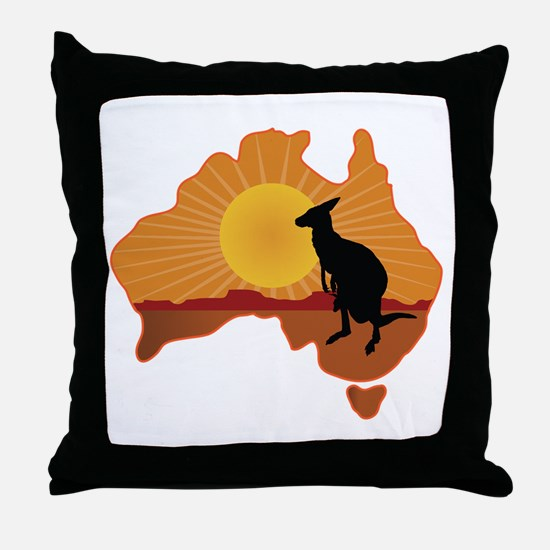 Australia Kangaroo Throw Pillow