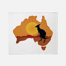Australia Kangaroo Throw Blanket