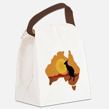 Australia Kangaroo Canvas Lunch Bag