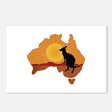 Australia Kangaroo Postcards (Package of 8)