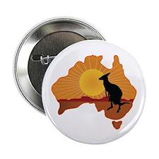 "Australia Kangaroo 2.25"" Button"