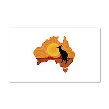 Australia Kangaroo Car Magnet 20 x 12