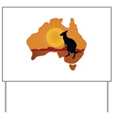 Australia Kangaroo Yard Sign