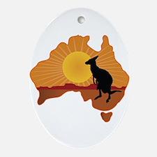 Australia Kangaroo Ornament (Oval)