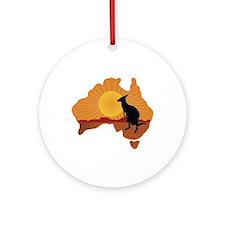 Australia Kangaroo Ornament (Round)