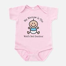 Best Memaw Baby Girl Stick Figure Infant Bodysuit