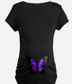 Maternity Butterfly purple and black Maternity T-S