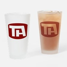Trans American Airlines Logo Drinking Glass