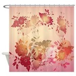 Sunset Autumn Flowers Shower Curtain