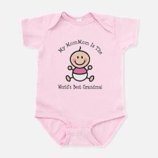 Best MomMom Baby Girl Stick Figure Infant Bodysuit