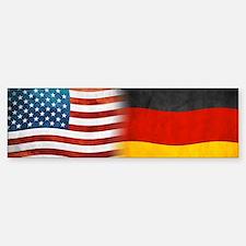 German American Flags Bumper Car Car Sticker