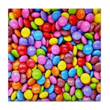 Colorful Candies Tile Coaster
