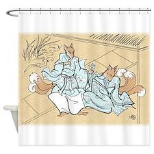 Kitsune Lovers Shower Curtain