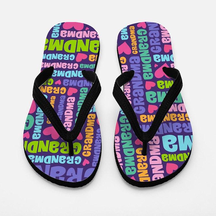 Cute Grandma Gift Flip Flops