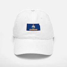 Kansas Flag Baseball Baseball Cap