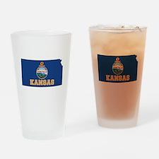 Kansas Flag Drinking Glass