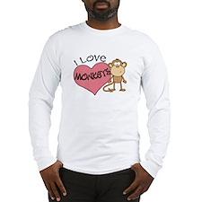 I Love Monkeys Long Sleeve T-Shirt