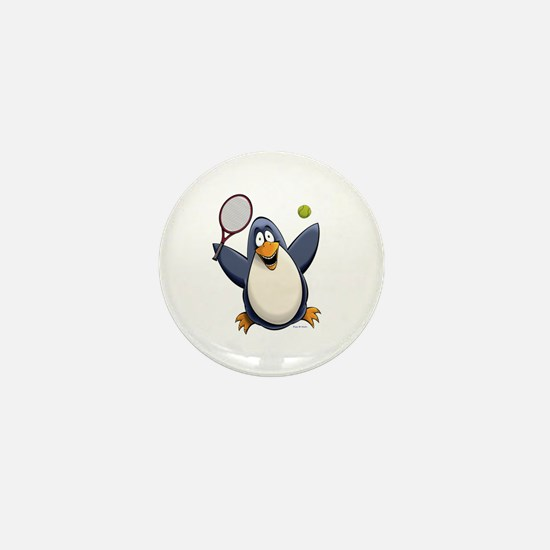 Tennis Penguin Mini Button