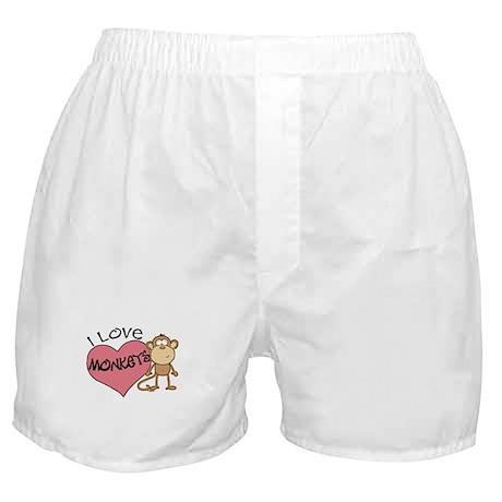 I Love Monkeys Boxer Shorts