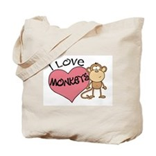 I Love Monkeys Tote Bag