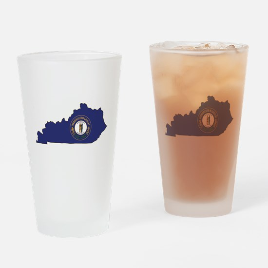 Kentucky Flag Drinking Glass