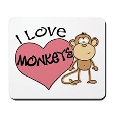 I Love Monkeys Mousepad