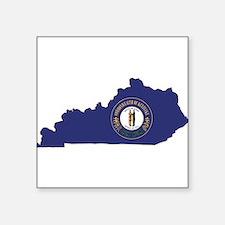 "Kentucky Flag Square Sticker 3"" x 3"""