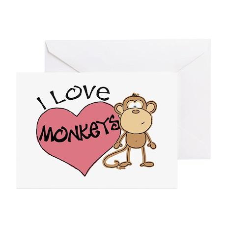 I Love Monkeys Greeting Cards (Pk of 10)