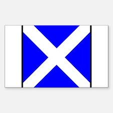 Nautical Flag Code Mike Decal