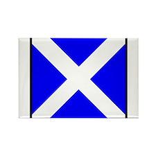 Nautical Flag Code Mike Rectangle Magnet