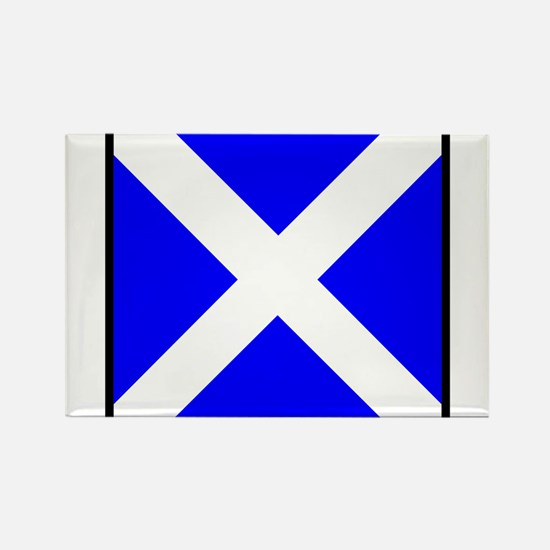 Nautical Flag Code Mike Rectangle Magnet