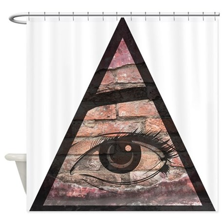 All Seeing Eye Shower Curtain By CoolGiftsandGreatMerch