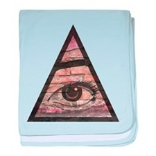 All Seeing Eye baby blanket