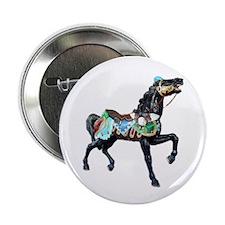black carousel horse Button