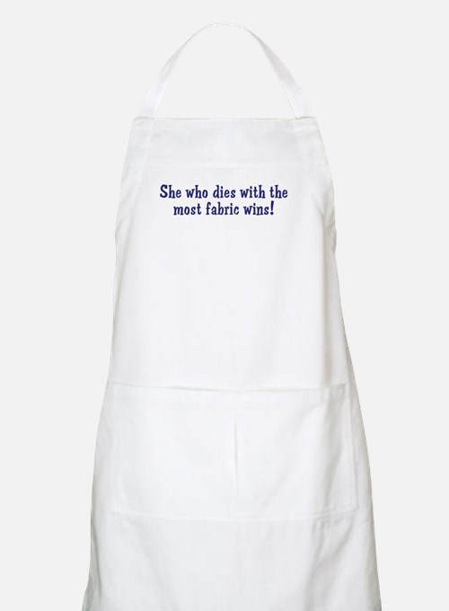 Funny Quilters Quote  BBQ Apron