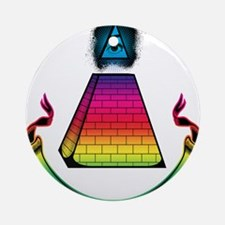 All Seeing Pyramid Ornament (Round)