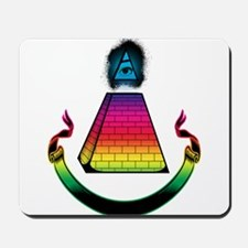 All Seeing Pyramid Mousepad